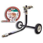 """1000F Wheeled Sprinkler Cart & 3/4"""" x 75 ft. Hose Combination Kit"""