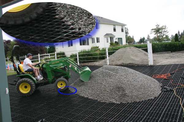 Add gravel to fill the grids